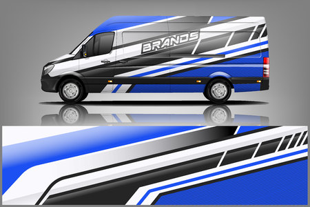 Van car Wrap design for company  イラスト・ベクター素材