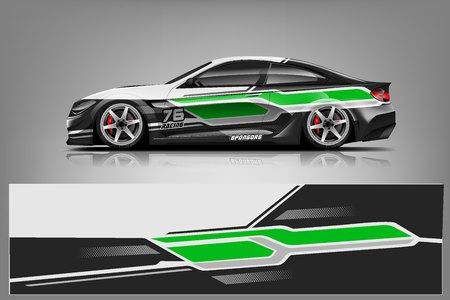 Sport car racing wrap design. vector design. - Vector