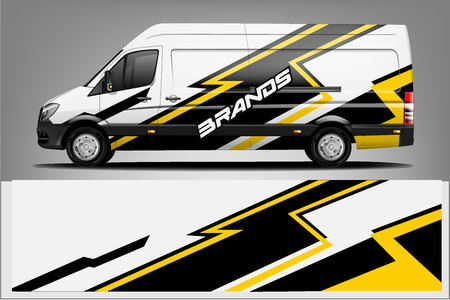 Van car Wrap design for company Çizim