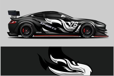 Sport auto race wrap ontwerp. vectorontwerp. - Vector Vector Illustratie