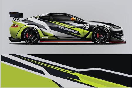 Sport auto race wrap ontwerp. vectorontwerp. - Vector