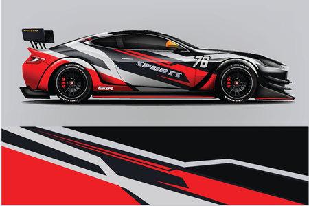 Conception d'enveloppe de course de voiture de sport. conception de vecteur. - Vecteur