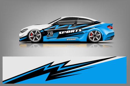 Design avvolgente da corsa per auto sportive. disegno vettoriale. - Vettore