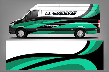 Van car Wrap design for company Illustration
