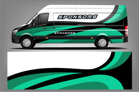 Van car Wrap design for company Banco de Imagens - 125675876