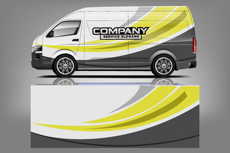 Van car Wrap design for company Vectores