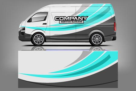 Van car Wrap design for company Vettoriali