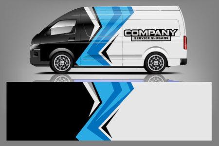 Van car Wrap design for company 일러스트