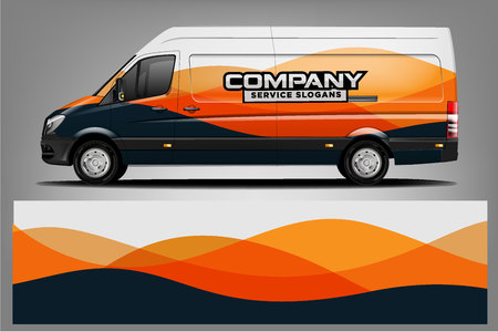 Van car Wrap design for company Illustration