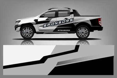 Truck Wrap design for company Vectores