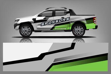 Truck Wrap design for company Vettoriali