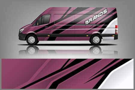 Van car Wrap design for company Ilustração