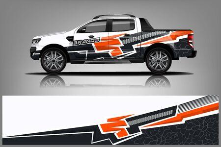 Truck Wrap design for company Ilustração