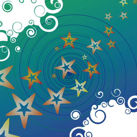 milkyway: Abstract background with star track and spirals