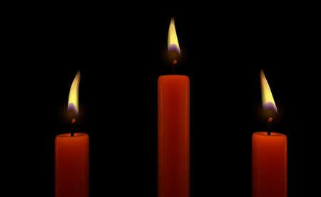 3 Candles Stok Fotoğraf