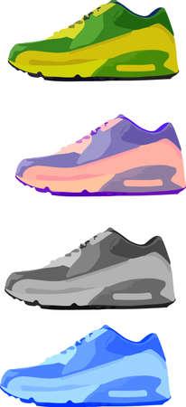 max: Running Shoes Illustration