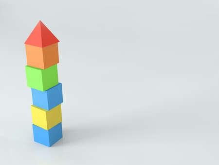 Plastic cubic tower.