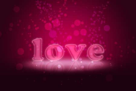 Love on Purple Glitter Stok Fotoğraf