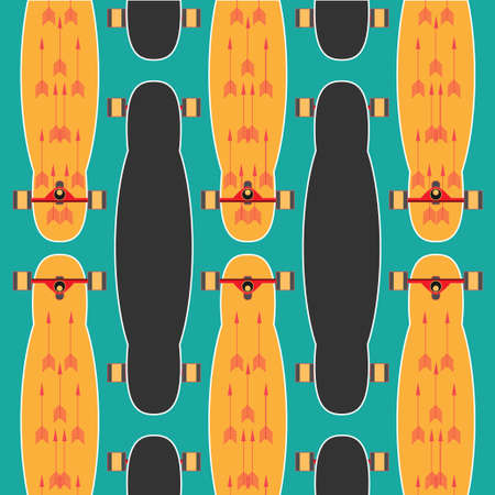 longboard: set of stickers with longboards. Different shapes of decks. I love longboard