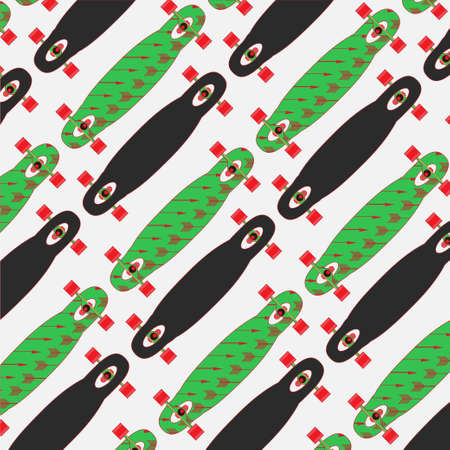 set of stickers with longboards. Different shapes of decks. I love longboard
