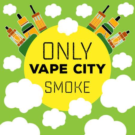 toxic product: electronic cigarette vaping flat style