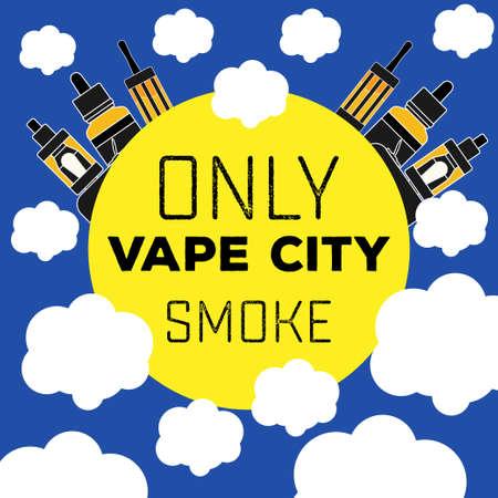 electronic cigarette vaping flat style Stock fotó - 53171698