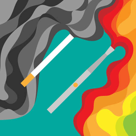 vaporize: electronic cigarette and tobacco.harm smoking.vaping