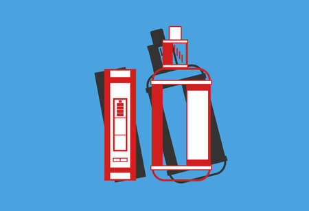 electronic cigarette color background vaping. Vector illustration of vape Illustration