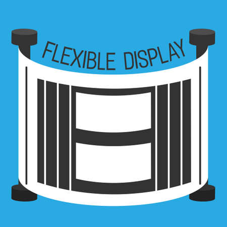flexible: Flexible display smartphone flat style color background