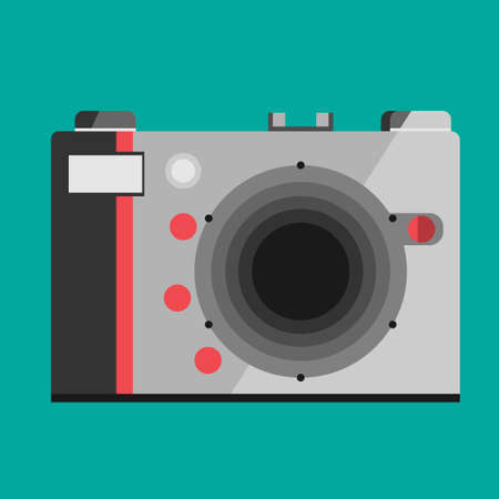 Camera icon isolated on background. Modern simple flat snapshot photography sign. Instant Photo internet concept. Illustration