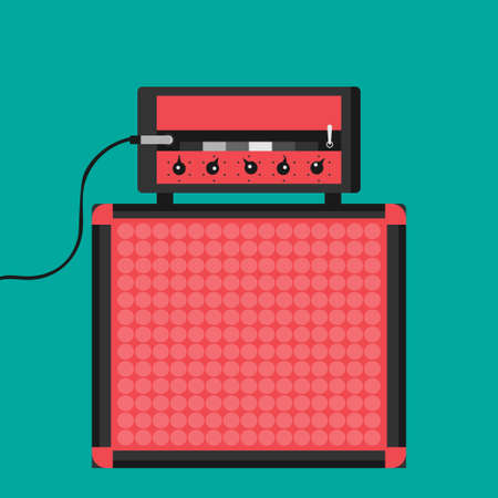 Guitar Amplifier For Red Color