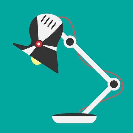 Desk lamp light icon. Illustration