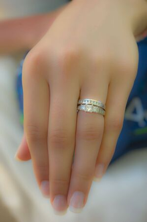 I DO. Showing the rings. photo