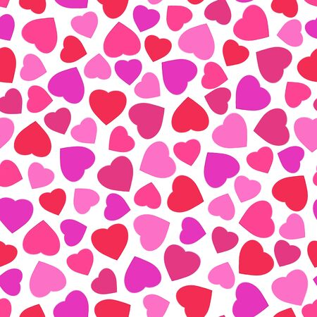 Seamless pattern with stylized heart symbol. Romantic wallpaper. Happy Valentine's day, wedding, sweet love concept background. Vector illustration