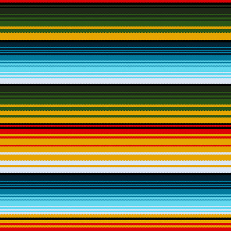 Mexican ethnic striped seamless pattern. Traditional folk handmade woven ornament. illustration