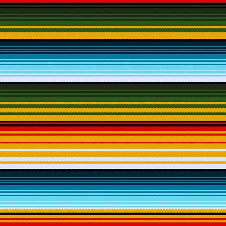 folksy: Mexican ethnic striped seamless pattern. Traditional folk handmade woven ornament. illustration