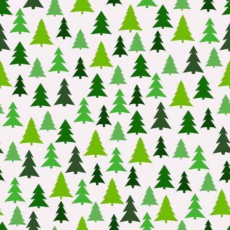 Naadloos patroon met groene sparren.