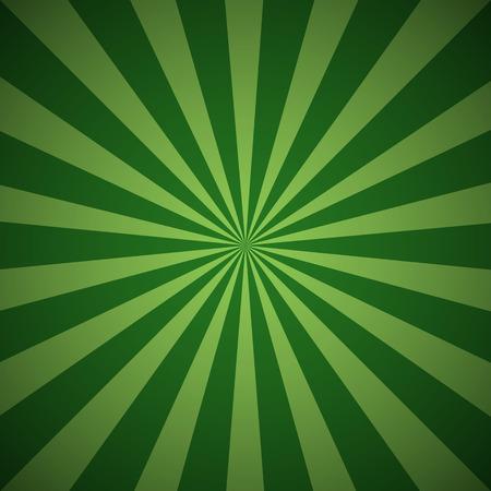 Fondo oscuro del grunge rayo verde. Sun irradia resumen de papel tapiz. ilustración vectorial