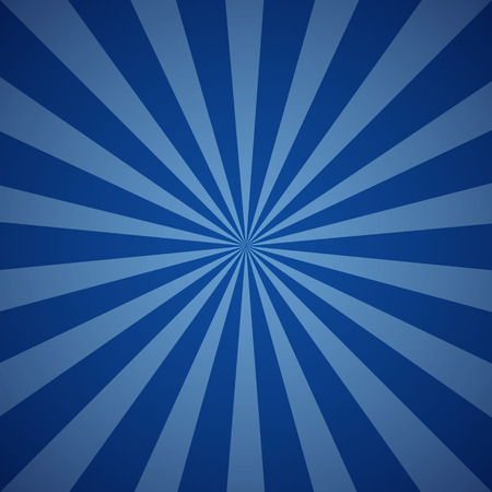 Dark blue grunge sunbeam background. Sun rays abstract wallpaper. Vector illustration Ilustração