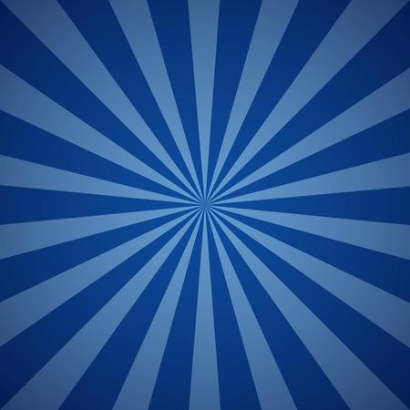Donkerblauwe grunge zonnestraal achtergrond. Stralen van de zon abstract behang. vector illustratie Vector Illustratie