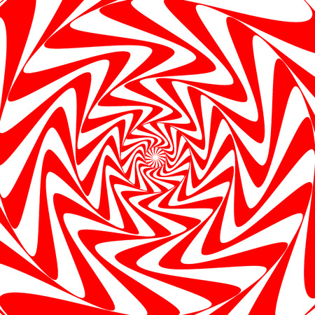 Red white swirl abstract vortex background. Psychedelic wallpaper. Vector illustration