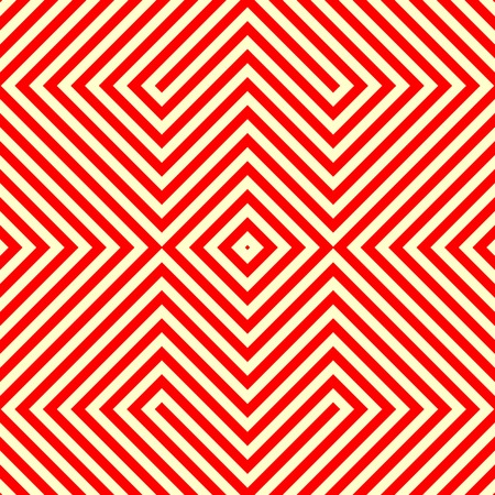 eyestrain: Striped red white seamless pattern. Abstract repeat angular lines texture background. Vector illustration Illustration