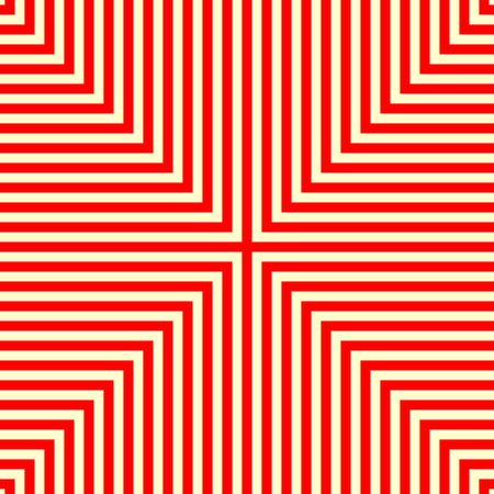 Striped red white seamless pattern. Abstract repeat angular lines texture background. Vector illustration Illustration