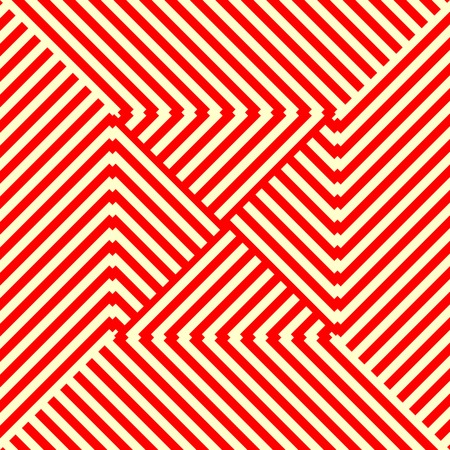 taper: Striped red white seamless pattern. Abstract repeat angular lines texture background. Vector illustration Illustration
