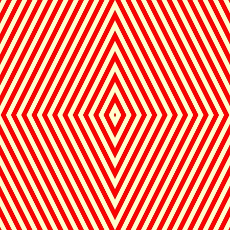 red wallpaper: Seamless pattern with symmetric geometric ornament. Striped red white abstract background. Abstract repeated rhombus wallpaper. Vector illustration