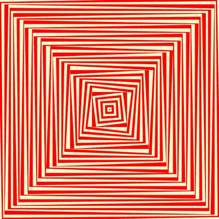 赤白の抽象的な背景。サイケデリックな壁紙。ベクトル図
