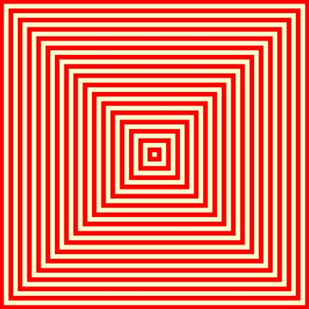 eyestrain: Striped red white pattern. Abstract repeat straight lines texture background. Vector illustration Illustration