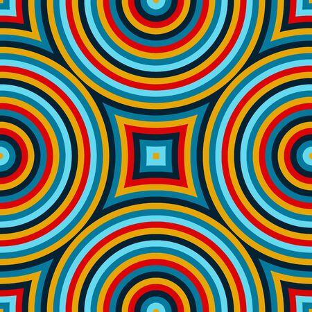 serape: Bright ethnic abstract background. Seamless pattern with symmetric geometric ornament. Ornamental mosaic texture. Vector illustration Illustration