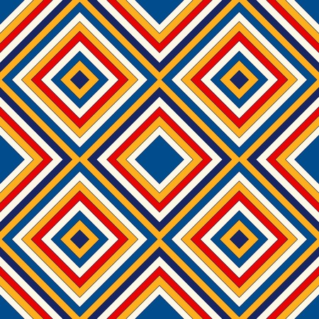 strip structure: Bright ethnic abstract background. Seamless pattern with symmetric geometric ornament. Ornamental mosaic texture.