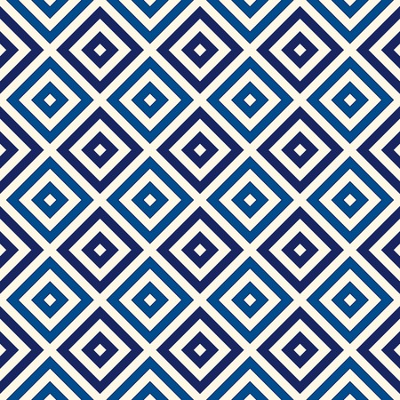 grid pattern: Seamless striped blue grid pattern. Abstract repeated crossing lines and squares texture background. Vector illustration Illustration